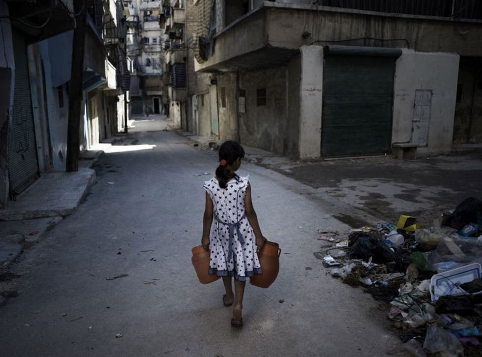 People in Aleppo are being forced to collect water from unsafe sources such as fountains and wells