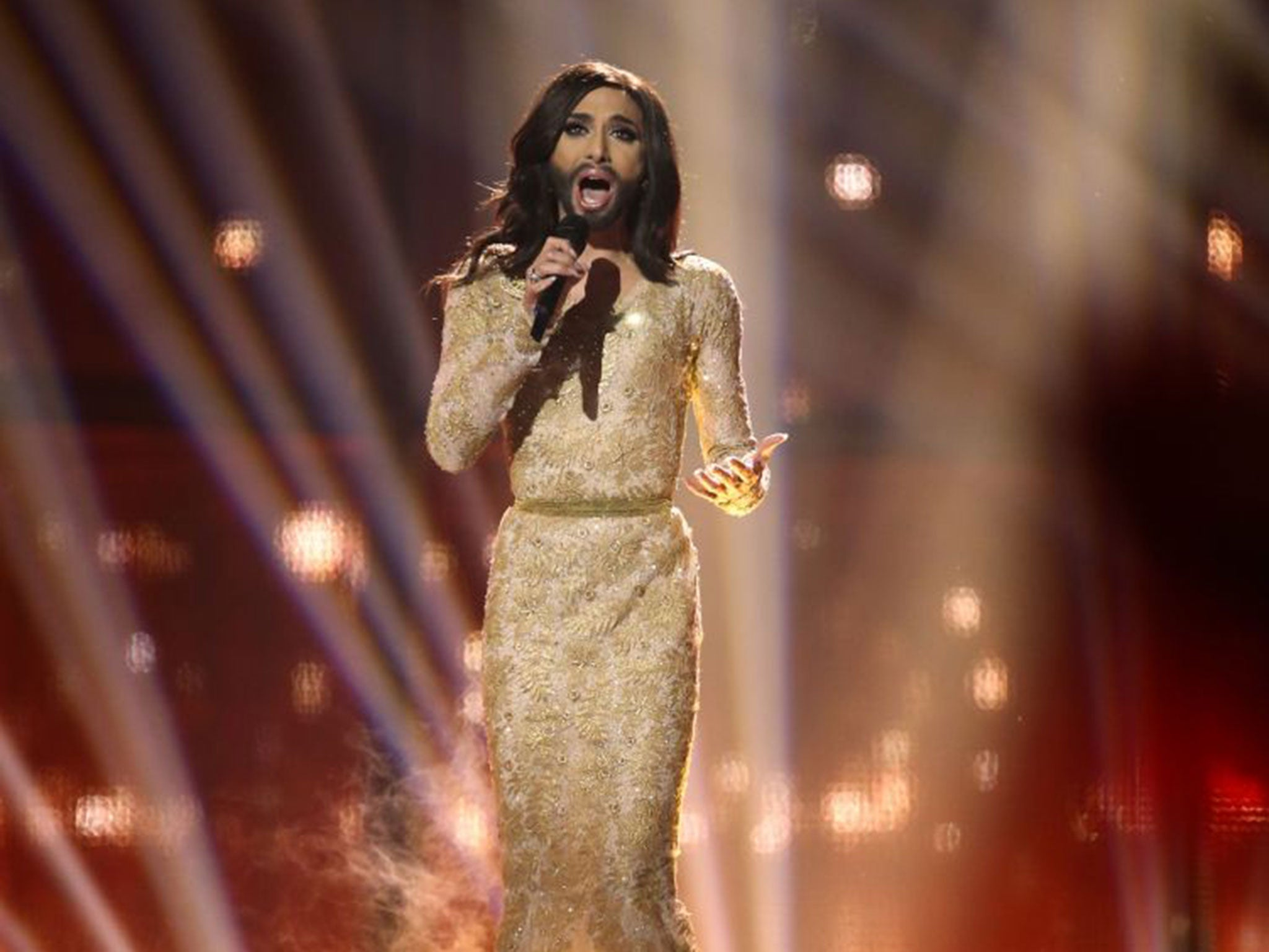 Conchita wurst and dana international in eurovision first star - Eurovision 2017 Most Controversial Acts Of All Time From Conchita Wurst To Israel Waving Syrian Flags The Independent