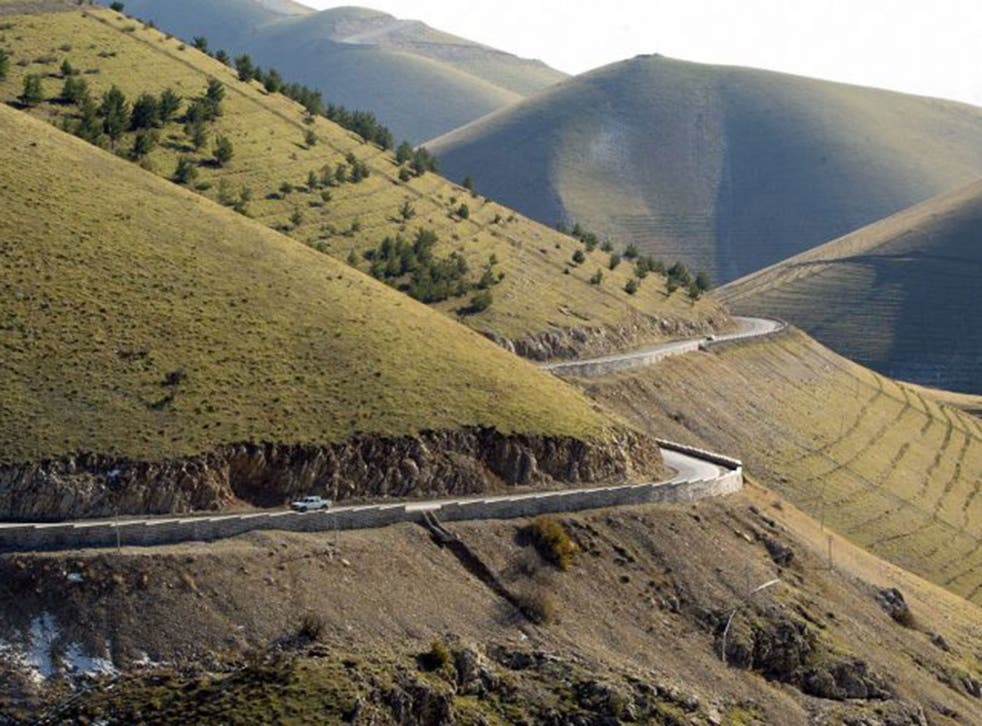 The Azmar mountains in Kurdistan