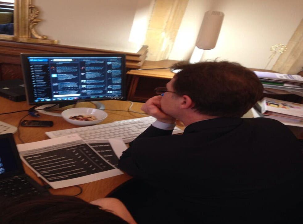 Nick Clegg tweeted a picture of himself to prove he was doing the chat.