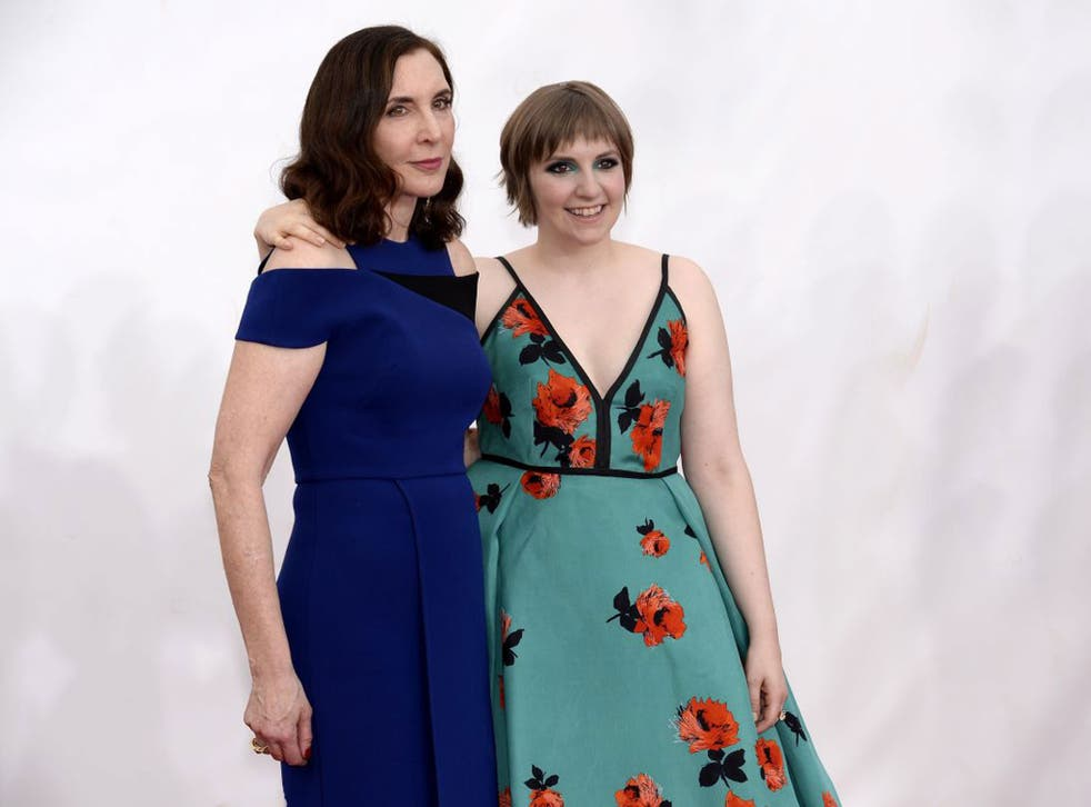Dolled up: Simmons with her daughter Lena Dunham
