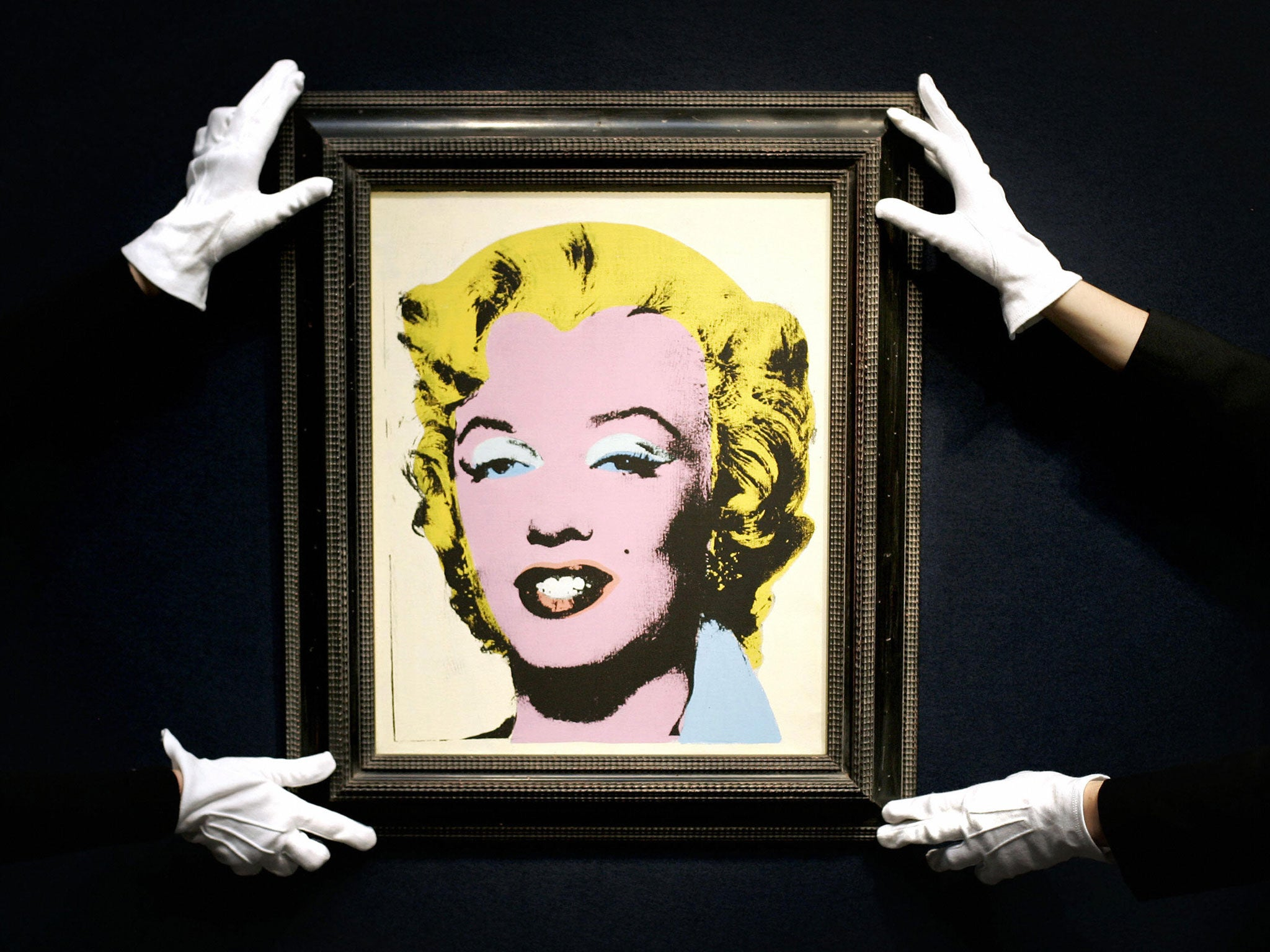 Andy Warhol auction: 'White Marilyn' and 'Race Riot' sell ...