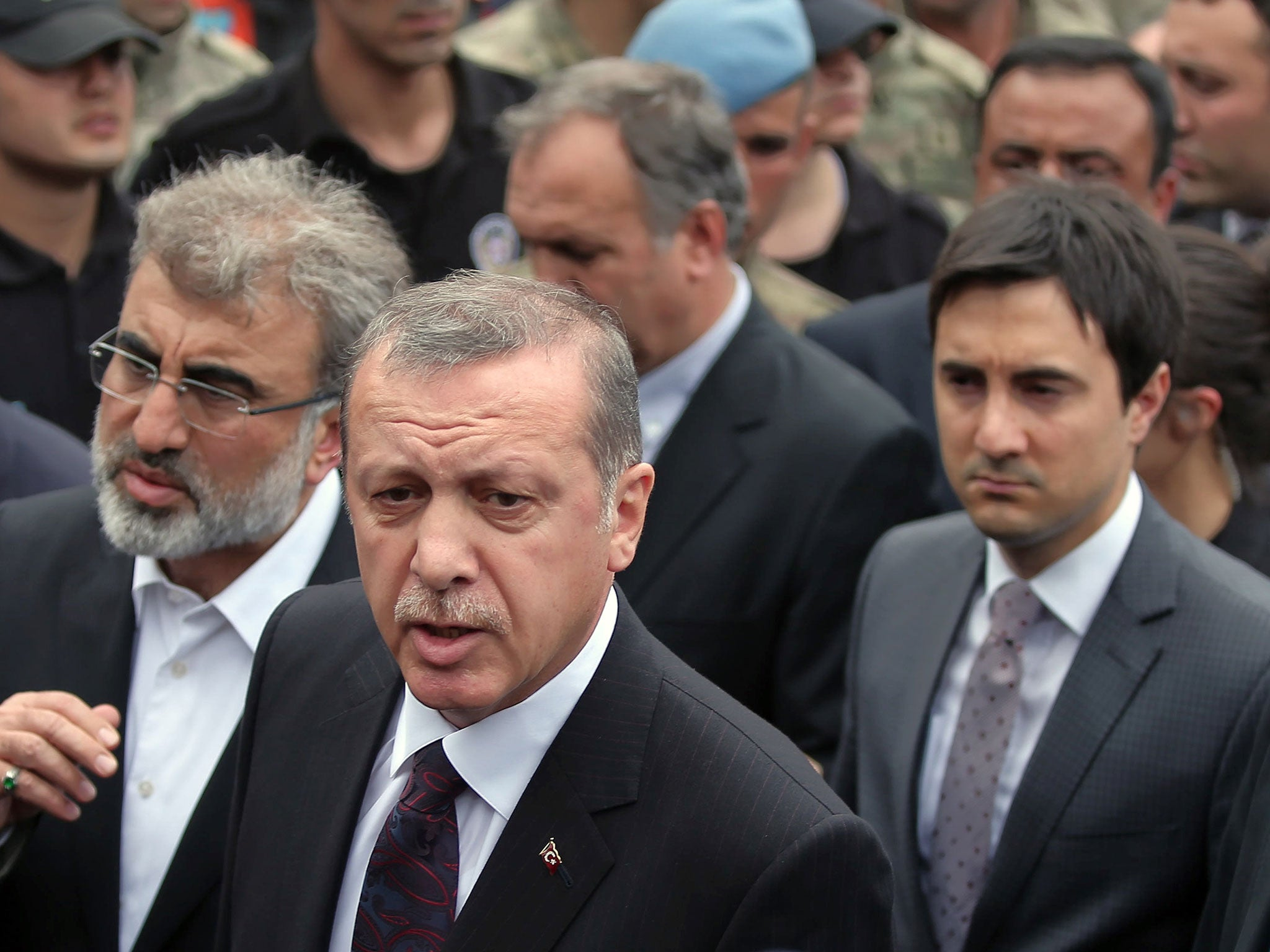 Turkey coal mine explosion: Turkish PM accused of 'slapping protester' |  The Independent | The Independent