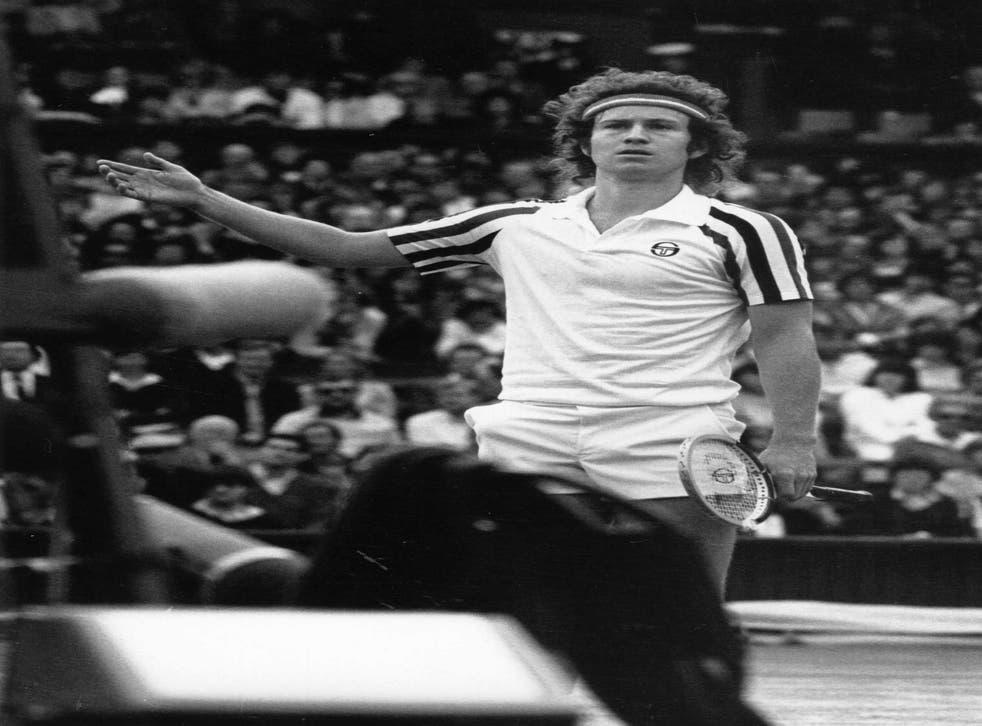Yes he's serious: John McEnroe disputing an umpire's call, July 1980