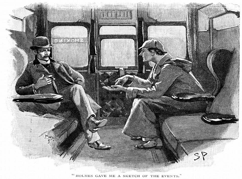 Lapses of memory: An illustration of Sherlock Holmes by Sydney E Paget, 1892