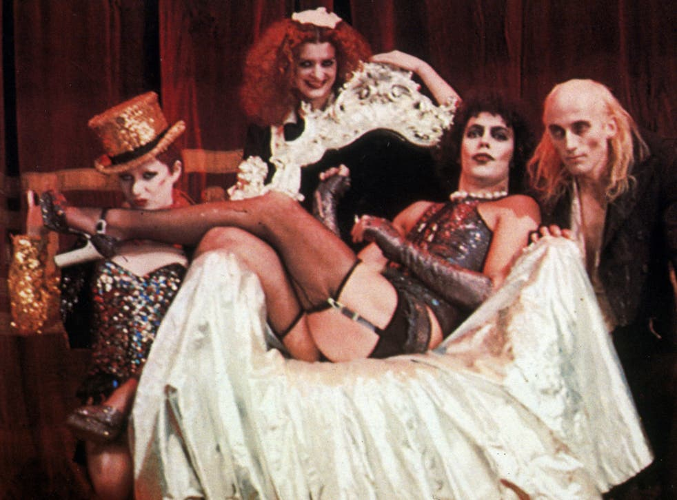 Tim Curry as Dr Frank N' Furter in the 1975 cult classic The Rocky Horror Show