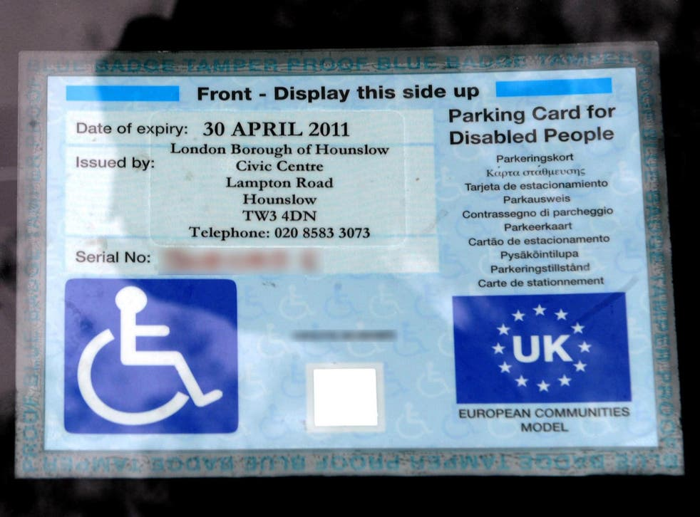 Blue badges allow people to use designated spaces closer to entrances