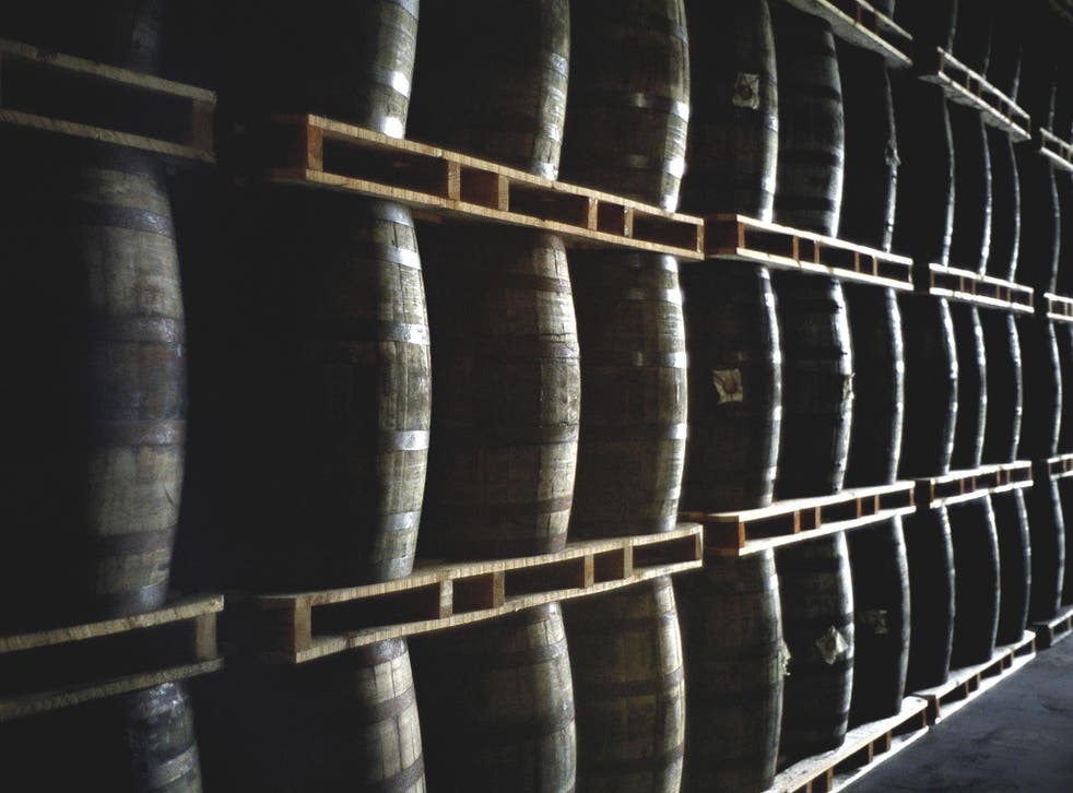 Scotch evaporates as it matures in barrels, which activists link to a tough mould