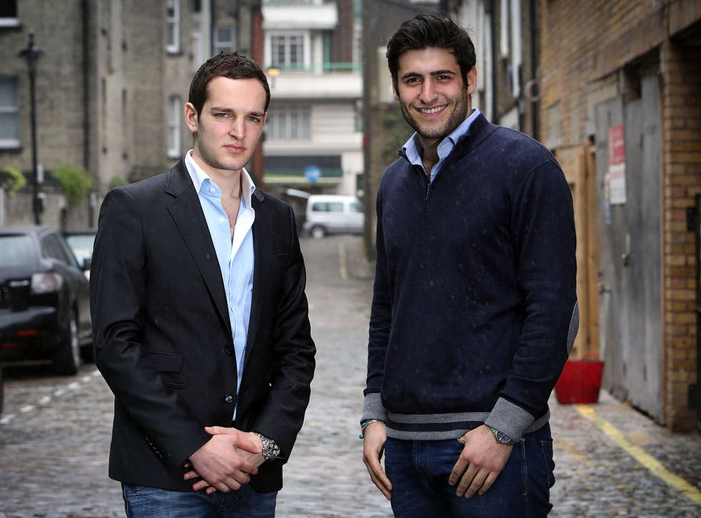 Five years on, Marcus Ereira, left, and Luke Shelley, right, have a flourishing business