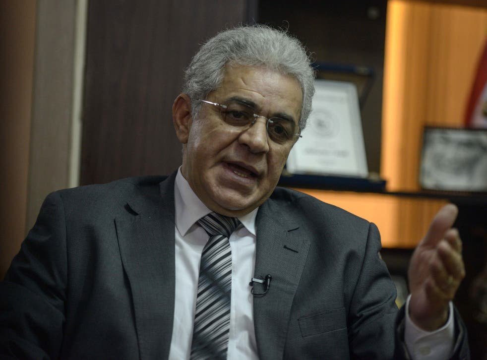 Hamdeen Sabbahy is a candidate in this month's election