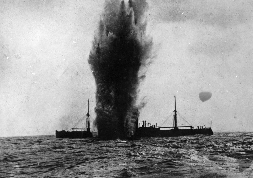 Image result for torpedo hitting ship periscope
