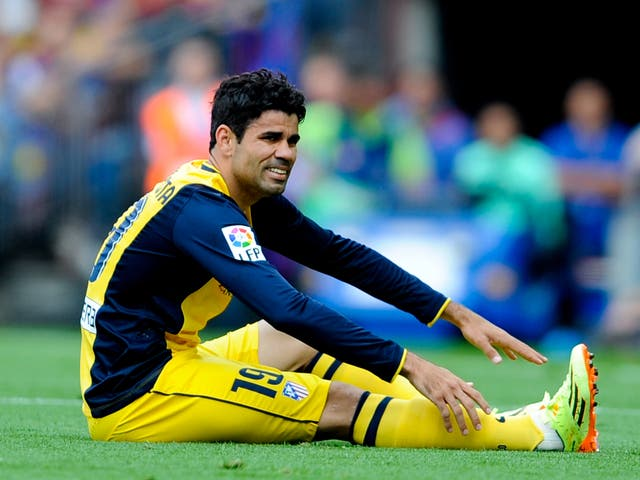 Diego Costa is a major doubt for the Champions League final