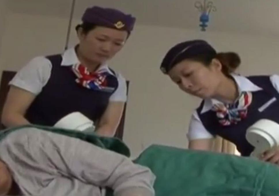 ee3cfaea1b6 A Chinese Hospital has apparently asked nursing staff to wear air hostess  uniforms at work