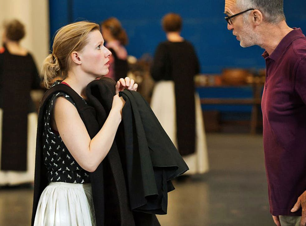 Second to nun: Sally Matthews in rehearsals with Alan Oke for Poulenc's 'Dialogues des Carmélites' at the Royal Opera House