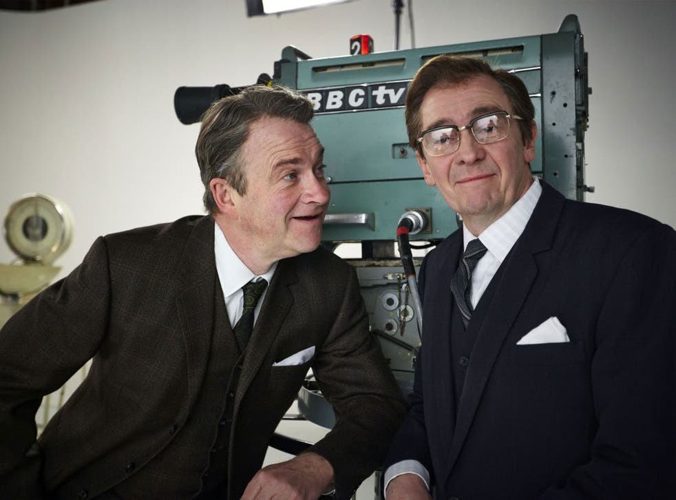 Suits you, sir: Harry Enfield and Paul Whitehouse in 'Harry & Paul's Story of the 2s'