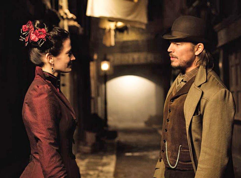 In the dark: Eva Green and Josh Hartnett in 'Penny Dreadful'