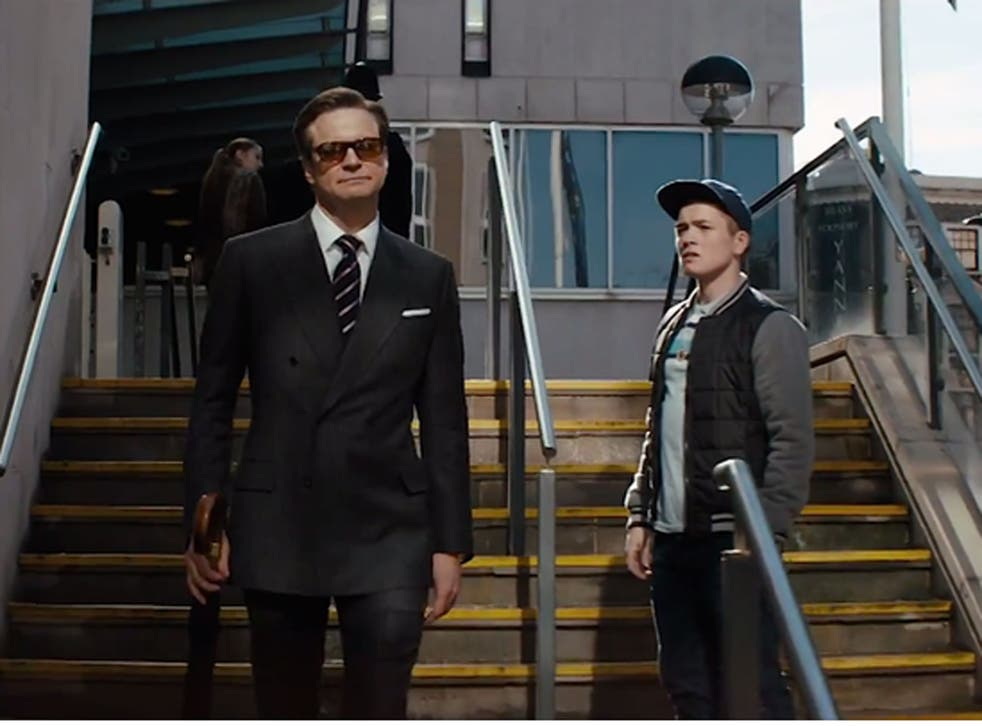 Colin Firth stars as MI6 agent Uncle Jack with Taron Egerton in Kingsman: The Secret Service