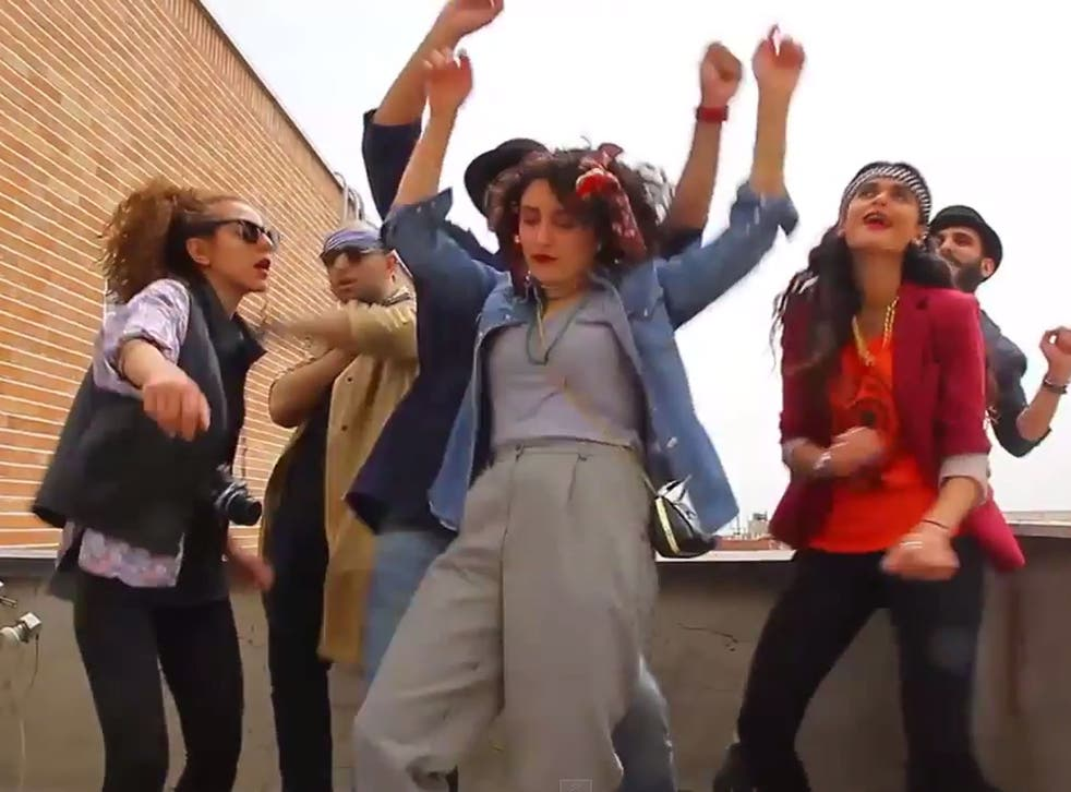 The Happy (we are from Tehran) video was supposed to show that Iran's young people 'have moments of joy and happiness even though they live with many difficulties'