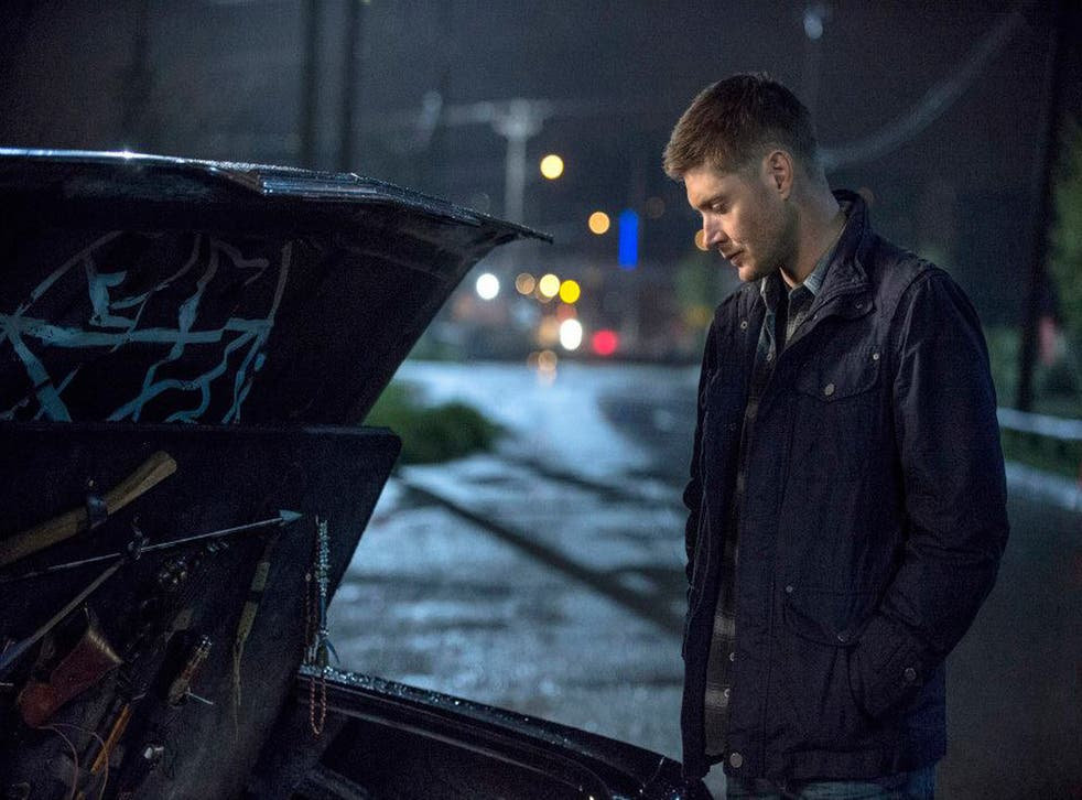 Jensen Ackles plays Dean in the season 9 finale of Supernatural