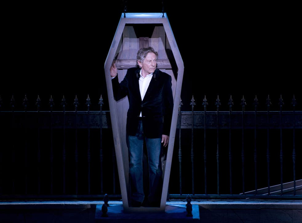 Death and the movie man: Roman Polanski at Paris's Mogador theatre, where he directed the stage show 'The Vampires' Ball'