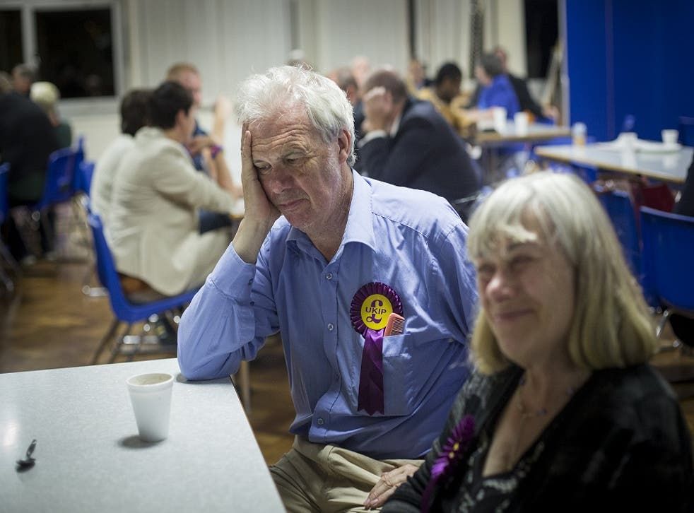 Ukip members wait for results of local election in Croydon