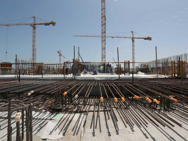 A construction site in Dubai last year