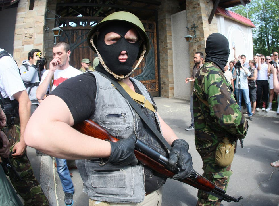 A number of the protestors were armed with Kalashnikovs