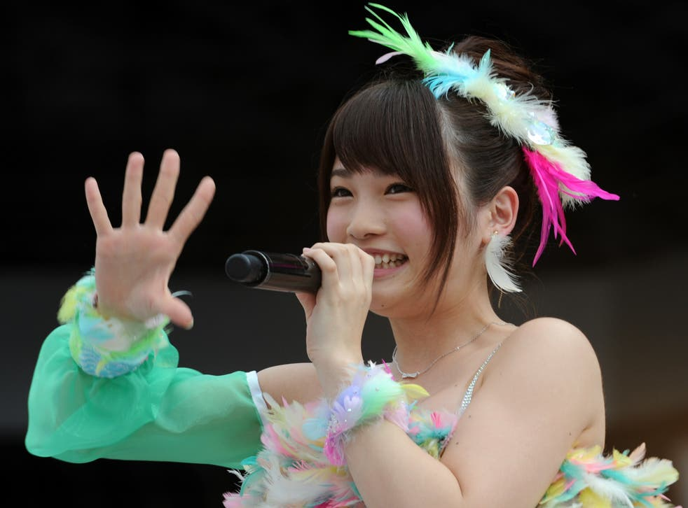Anna Iriyama, one of the members of AKB48 who was attacked