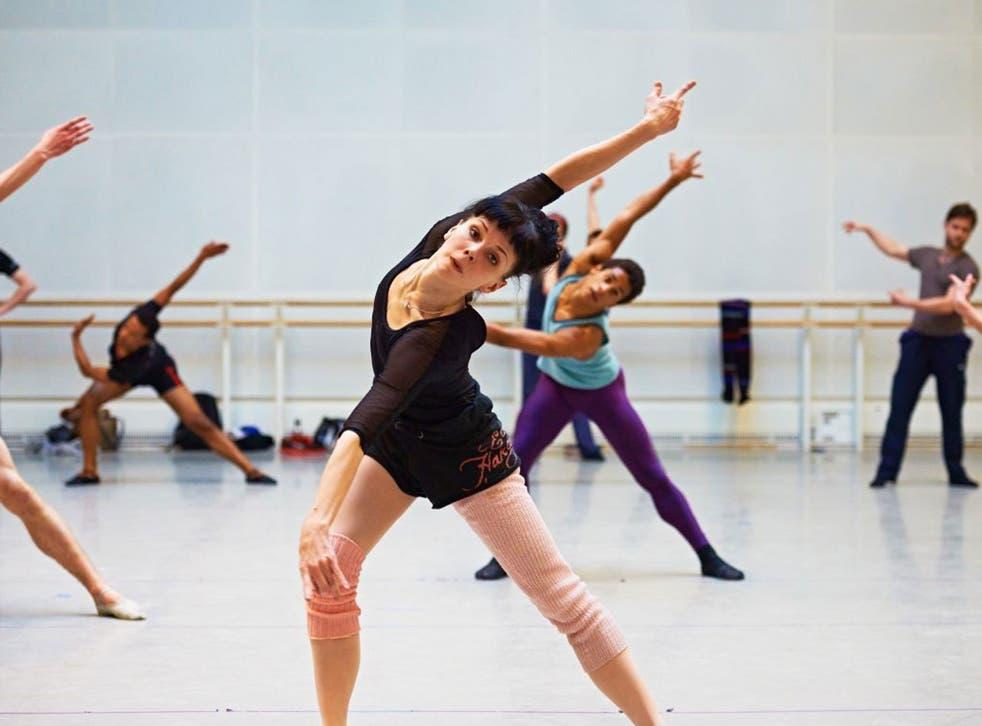 Natalia Osipova in rehearsals for 'Connectome'