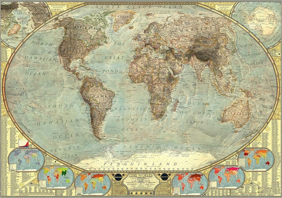 This map of the world in stereotypes is insanely ... Made Up World Map on made up topographic maps, made up flags, made up gifts, made up toys, made up characters, made up games, made up photography, made up solar system, made up physical maps, made up country maps, made up military,