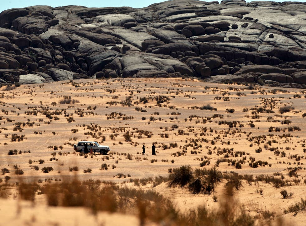 The desert 600 kms north of Riyadh, Saudi Arabia