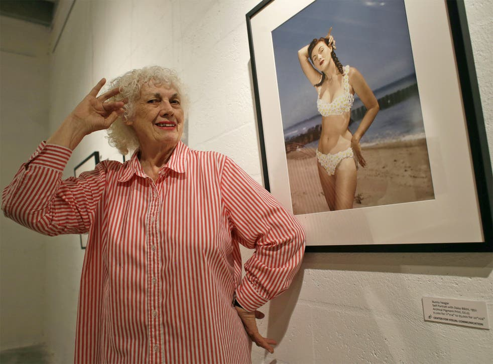 'I never posed nude for anyone apart from myself': Yeager at her Miami gallery in April last year