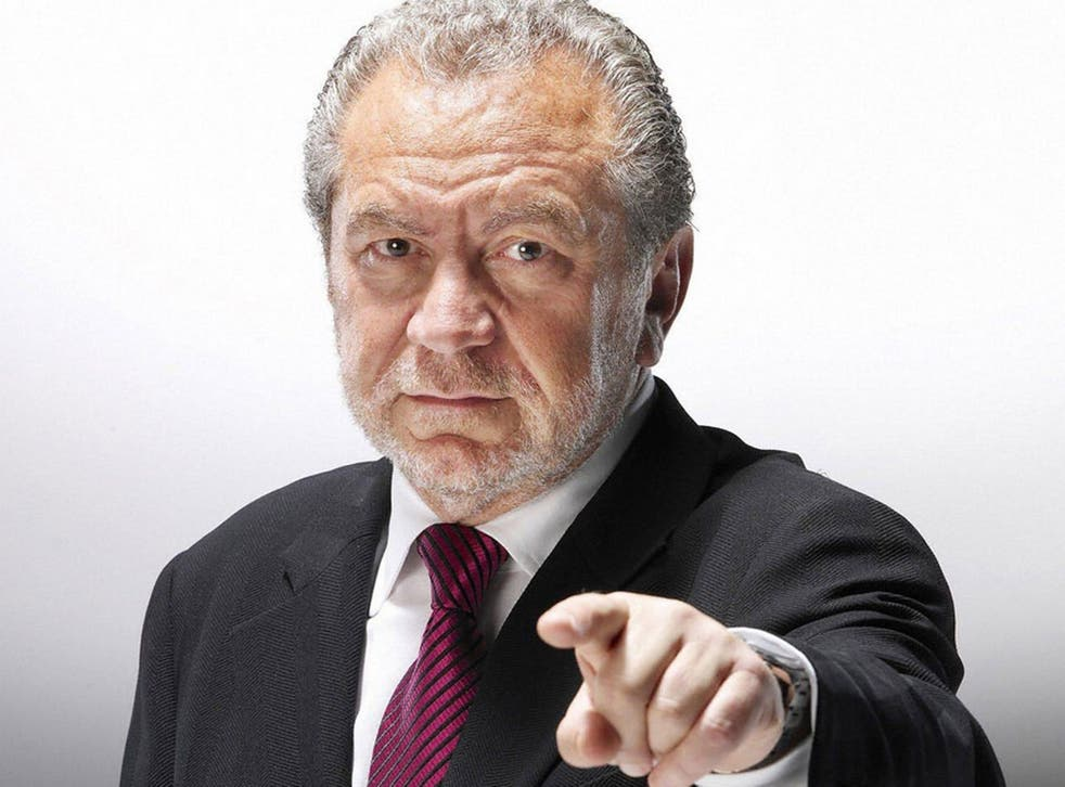 A new series of The Apprentice starts on Wednesday 4 October.