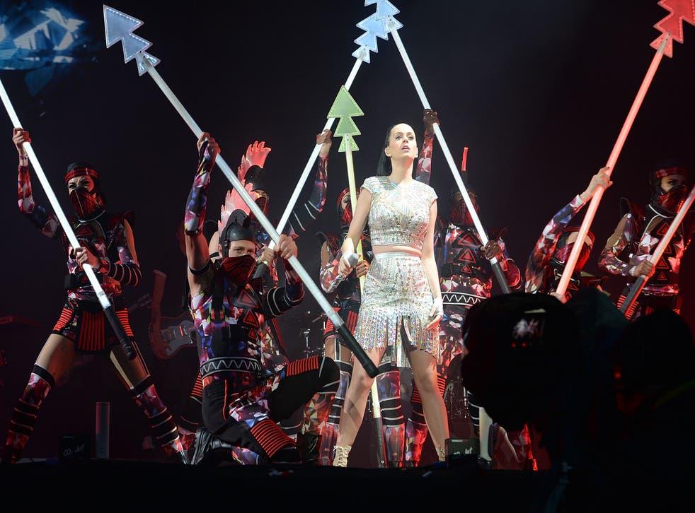 Katy Perry performs on stage at Radio 1's Big Weekend
