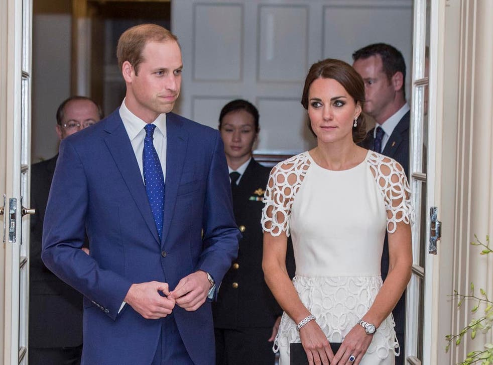 Prince William, Duke of Cambridge and Catherine, Duchess of Cambridge attend a reception hosted by the Governor General Peter Cosgrove and Her excellency Lady Cosgrove at Government House on April 24, 2014 in Canberra, Australia.