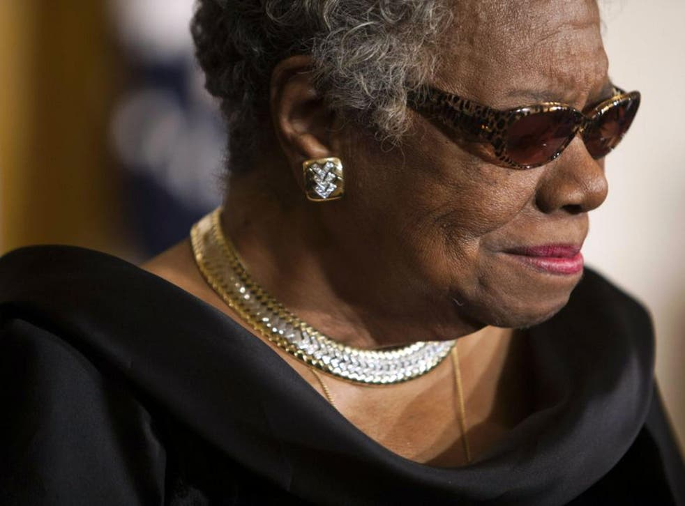 US writer Maya Angelou pictured in 2011, in the East Room of the White House during a ceremony honoring her and 14 other Medal of Freedom recipients in Washington DC, USA. Maya Angelou died on 28 May 2014 in her North Carolina home, announced her agent He