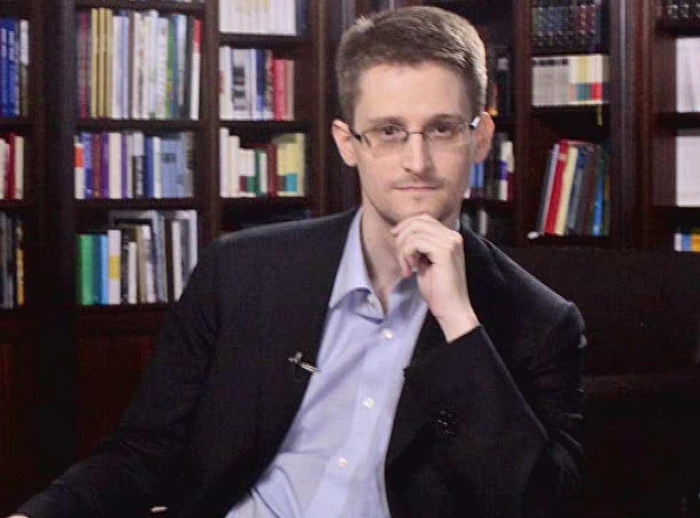 Edward Snowden during his interview with NBC's Brian Williams in Moscow