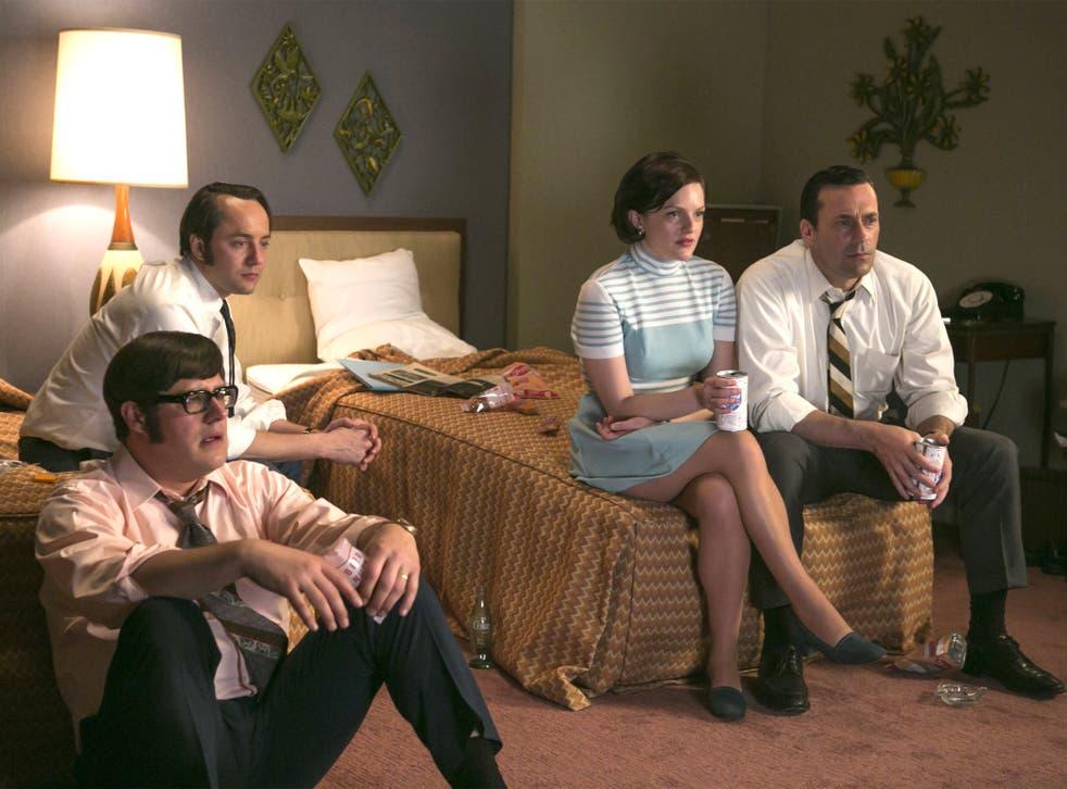 Tied up: Rich Sommer, Vincent Kartheiser, Elisabeth Moss and Jon Hamm in 'Mad Men'