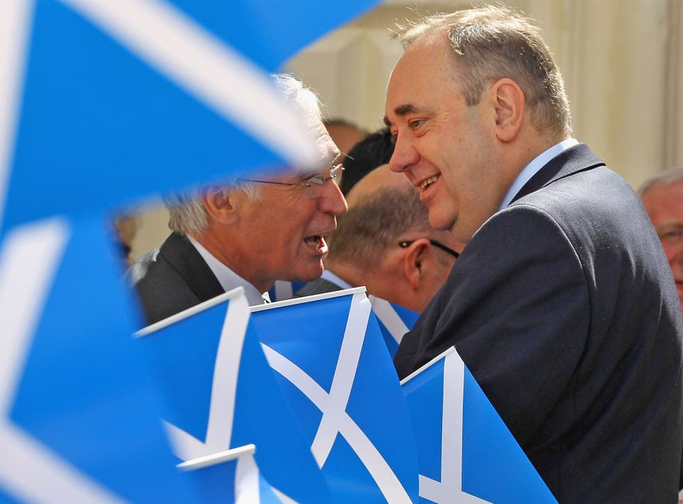 Support for Scottish independence appears to be slipping away as voters turn their backs on Alex Salmond's bid, the results of a new opinion poll have suggested.