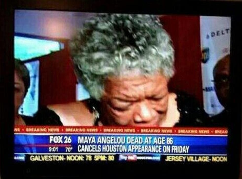 Maya Angelou died at the age of 86 yesterday
