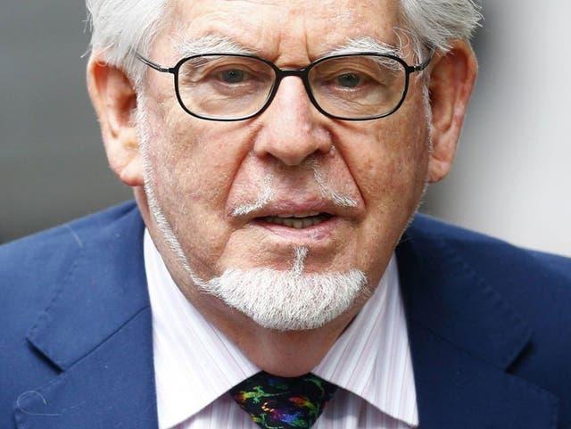 Rolf Harris arrives at Southwark Crown Court