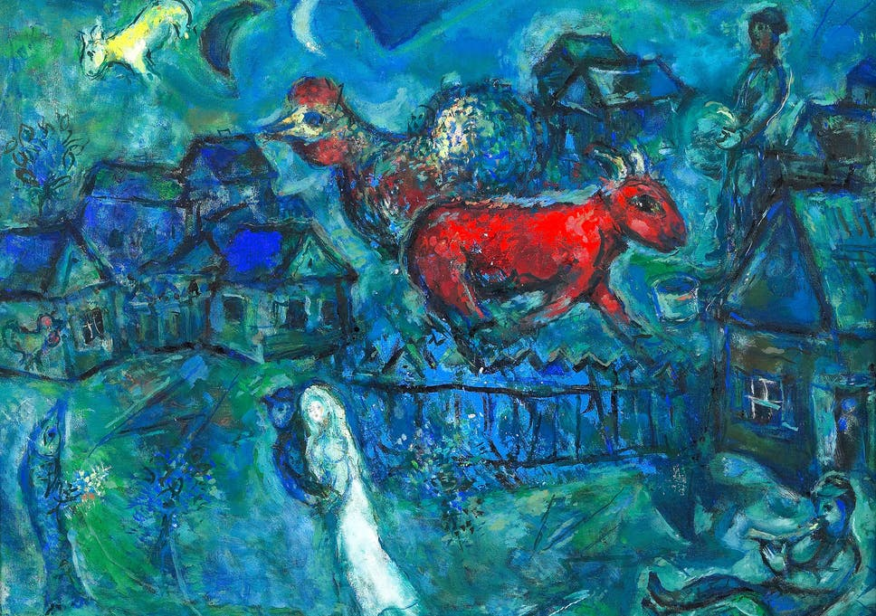 Rarely seen Marc Chagall paintings go on show for first time | The ...