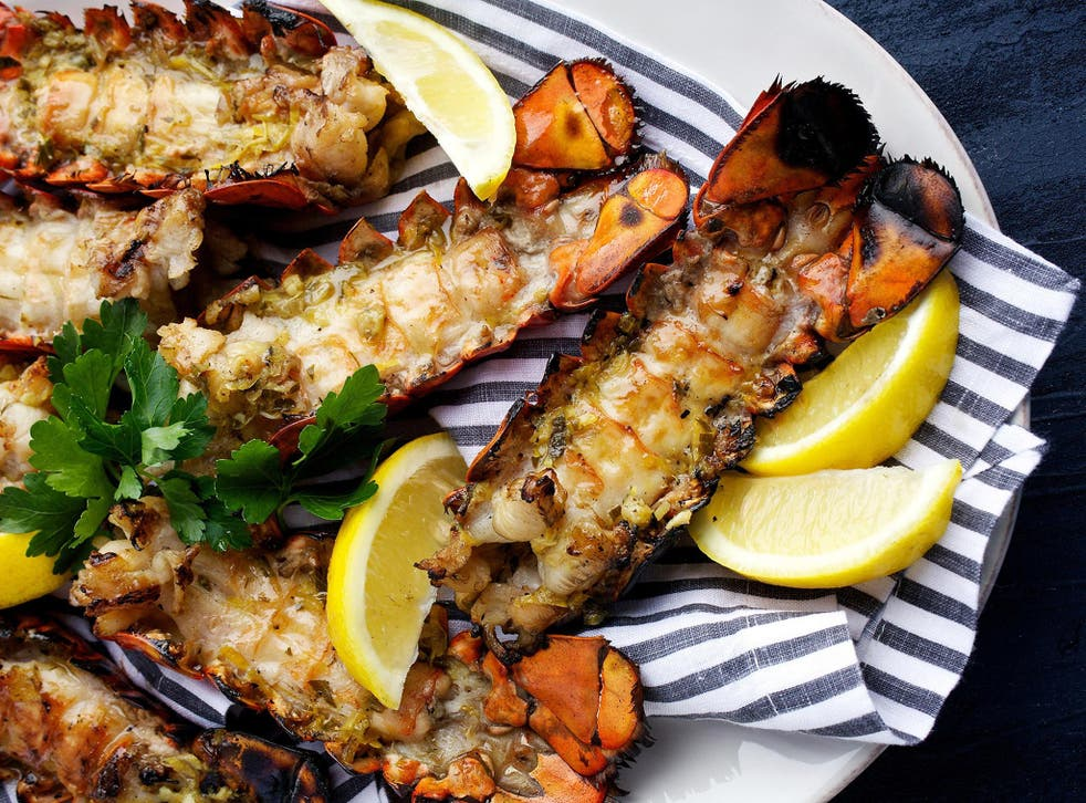 Full of flavour: Grilled lobster tails