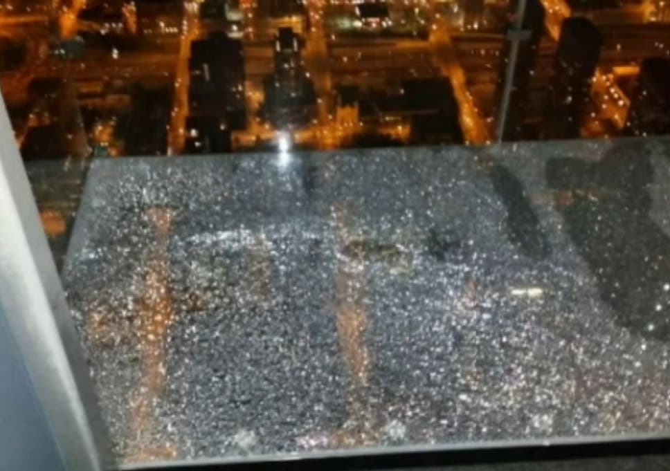 A Visitor To The Tower Took Photo Of Glass Beneath Them