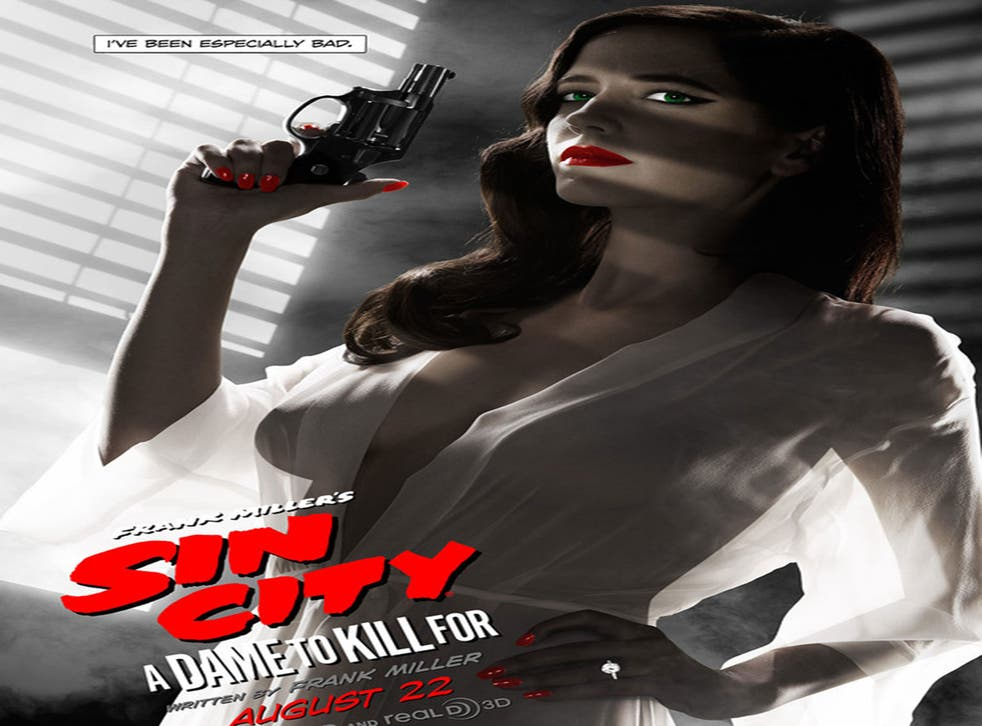 Eva Green in a Sin City 2 posted deemed inappropriate by the MPAA