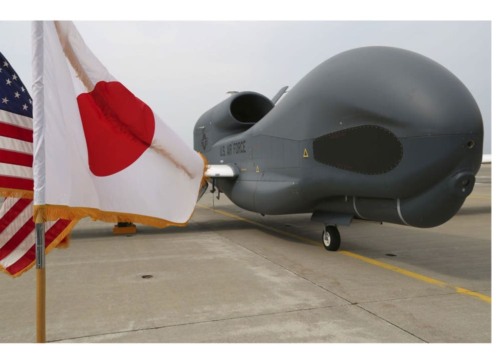 The arrival of the Global Hawk drones in Japan comes at a sensitive time in the region