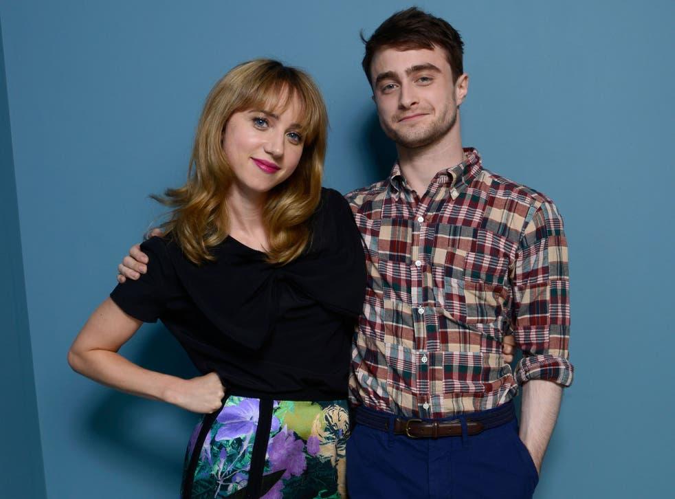 Co-stars Zoe Kazan and actor Daniel Radcliffe at the 2013 Toronto International Film Festival