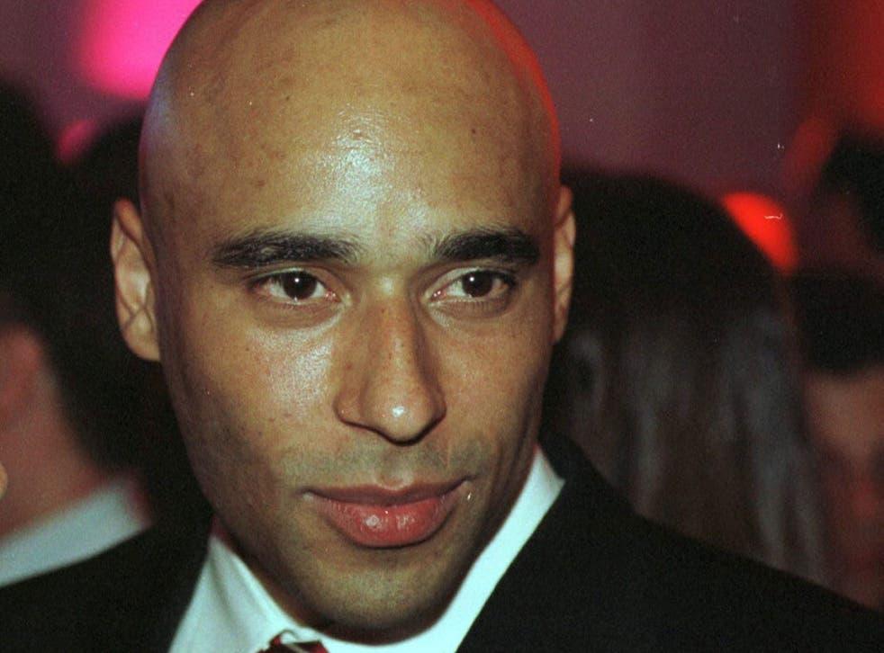 A file picture from February 2002 shows former Brazilian footballer Edson Cholbi do Nascimiento 'Edinho', son of Pele, in Sao Paulo, Brazil