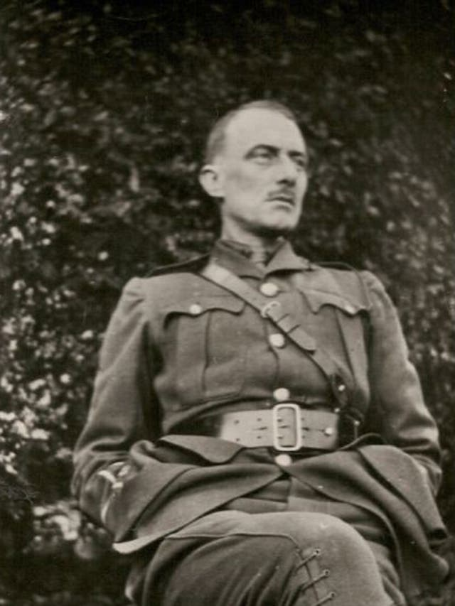 Edward Thomas, a Second-Lieutenant in the Royal Garrison Artillery, at home on leave in early 1917