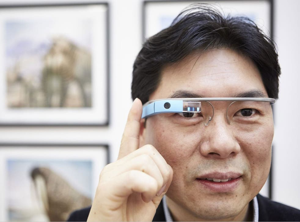 Dr Timothy Jung, wearing Google's device, sees Glass as the 'future of tourism'